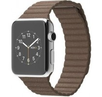 Apple Watch 42mm mit Lederarmband mit Schlaufe braun Smartwatches vender
